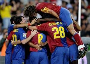 Super goliza del Barcelona 6 - 1 Sporting de Gijona