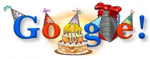 Logo de Google en su Décimo Aniversario