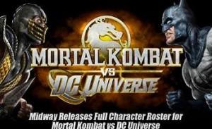 Todos los luchadores de Mortal Combat vs DC Universe