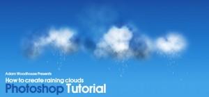 Tutorial para crear nubes con lluvia con Photoshop