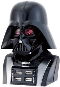 Memoria USB de Darth Vader con cuatro puertos