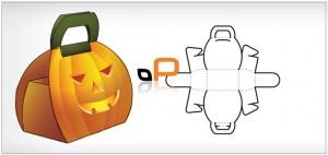 Calabaza hecha de papel Manualidades para Halloween