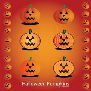 Calabazas para Halloween en vectores