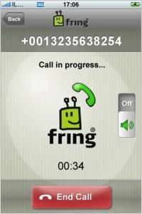 Fring aplicación gratuita para el iPhone y iPod Touch