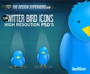 Iconos de Twitter en vectores
