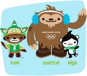 Vancouver 2010 Logos, Mascotas, medallas