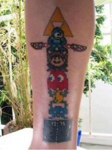 La tecnología y los videojuegos también en los tatuajes
