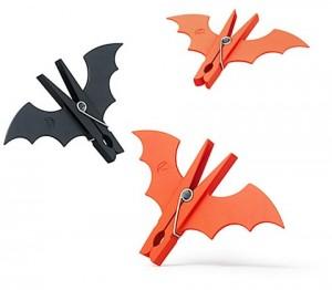 Murciélagos de pinzas para adornar en Halloween