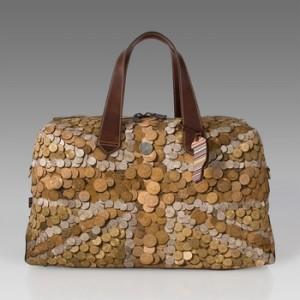 Original bolsa hecha con monedas