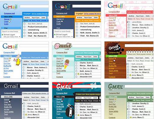 Gmail ahora se puede personalizar con temas