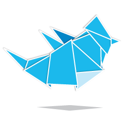Set de iconos estilo origami