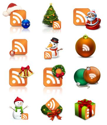 Iconos RSS con motivos navideños
