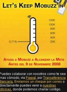 Donando puedes ayudar a Mobuzz TV online española