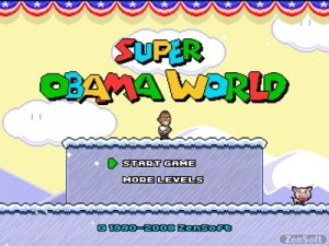 Videojuego Super Obama World