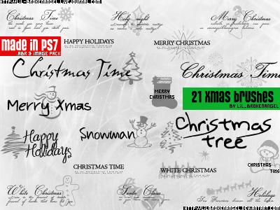 21 pinceles de Navidad para Photoshop