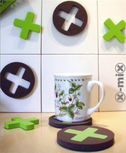 X-Mix-Coaster  puedes escoger portavasos o juego o ambos