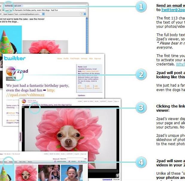 2tweet publica múltiples imágenes y videos en Twitter desde tu correo