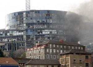 Bombazo de la ETA al edificio de EiTB en Bilbao