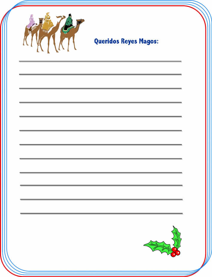 Imprime tu carta para Los Reyes Magos