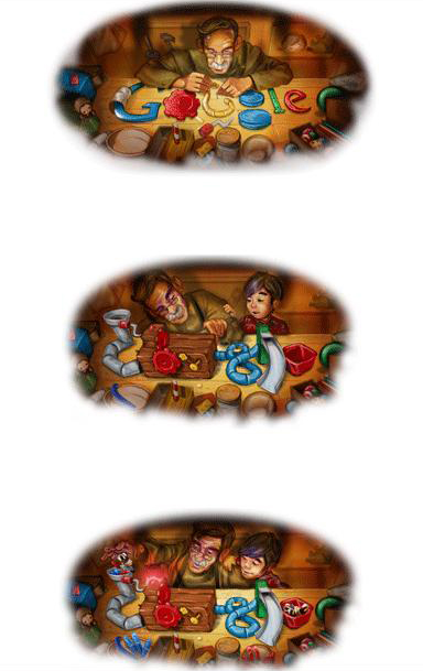 Doodle de Google por las Fiestas Decembrinas 2008