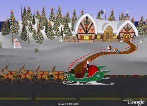 Google Eart siguiendo a Santa 2008