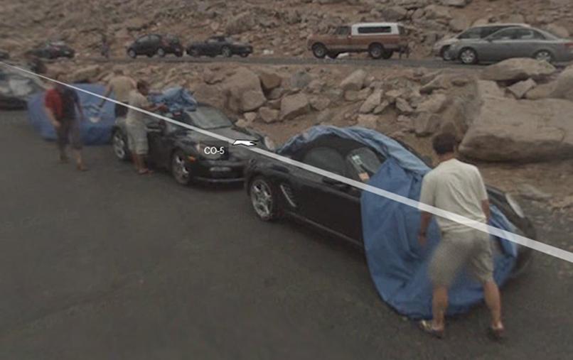 El nuevo Porsche visto por Google Street View