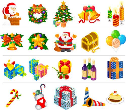 Imágenes de Navidad en vectores