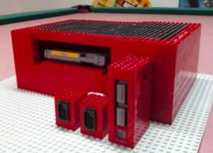 NES creado con piezas Lego
