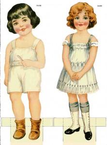 Muñecas para recortar y vestir