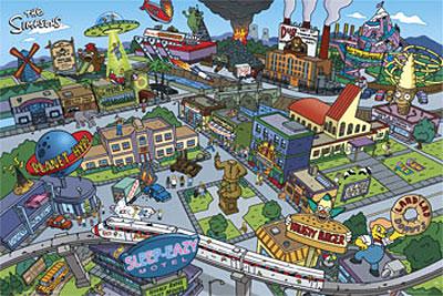 Los Simpsons: Mapa interactivo de Springfield