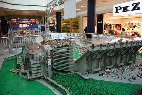 Grandes estadios de fútbol en LEGO
