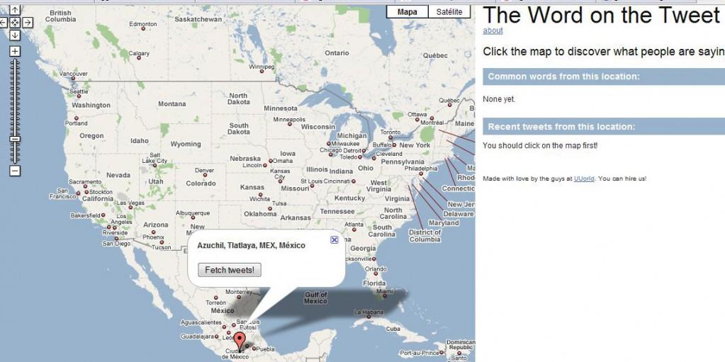 Los Twits en Google Maps