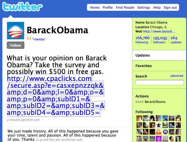 Fueron hackeadas las cuentas de Britney Spears, Obama, Fox y Facebook en Twitter