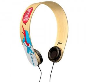 Originales audífonos de madera