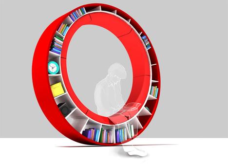 Sofá librero circular