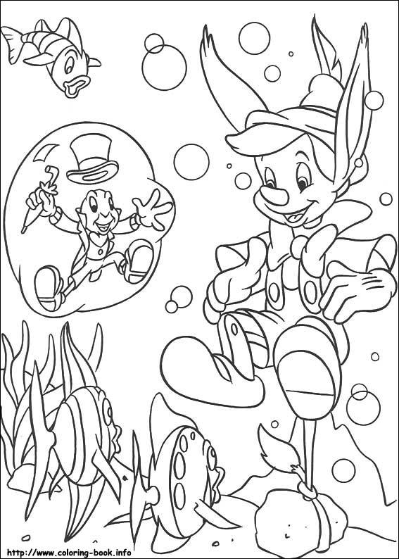 Dibujos Para Colorear De Pinocho Agridulce
