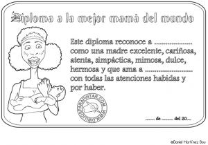Dibujos para colorear del Día de las Madres