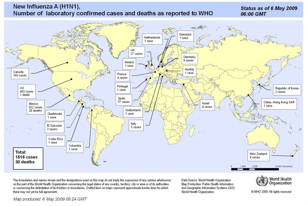 Una de cada tres personas en el mundo podrían enfermar de Influenza Humana
