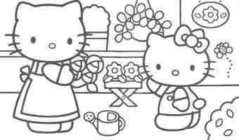 Recopilación de dibujos para colorear de Kitty