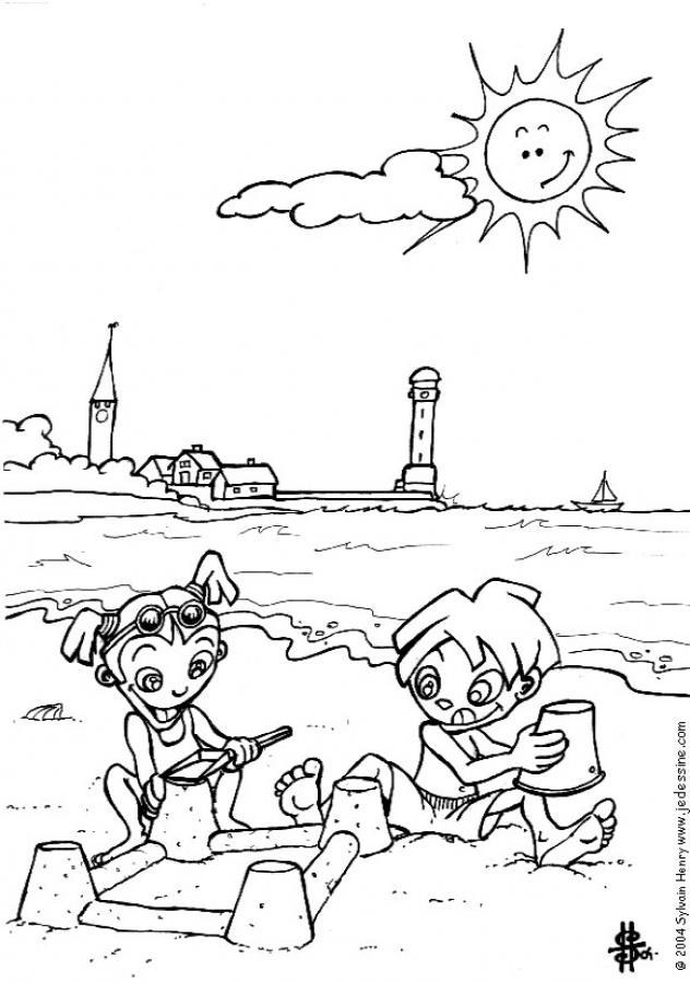 Recopilación de dibujos para colorear de Verano