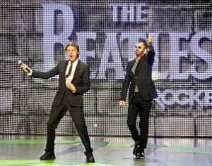 Paul McCartney y Ringo Starr en la E3 2009