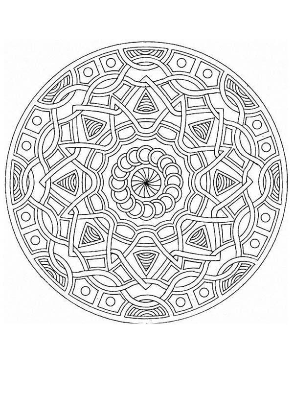 Dibujos para colorear de Mándalas en tres niveles de dificultad
