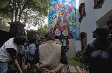 La ONU en la inauguración de grafiti mexicano sobre la libertad de expresión