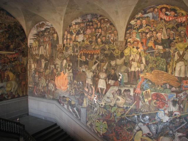Los Murales del Palacio Nacional Exposición de los murales de Diego Rivera