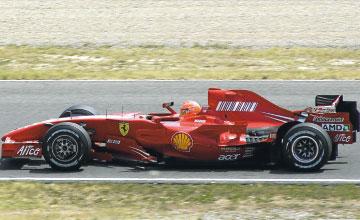 Schumacher al volante del Ferrari para la Fórmula 1