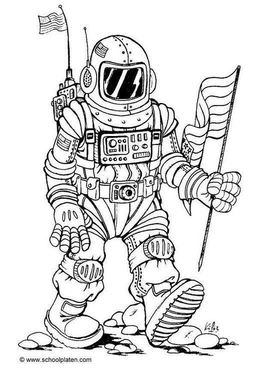 Recopilación de dibujos para colorear del Espacio