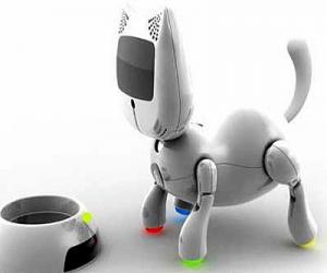 El robot gato es una buena mascota para los ancianos