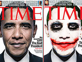 Un estudiante es el autor del póster de Obama como El Guasón