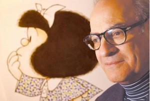 Estatua de Mafalda como homenaje a Quino