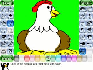 Tux Paint sencillo programa de dibujo para niños
